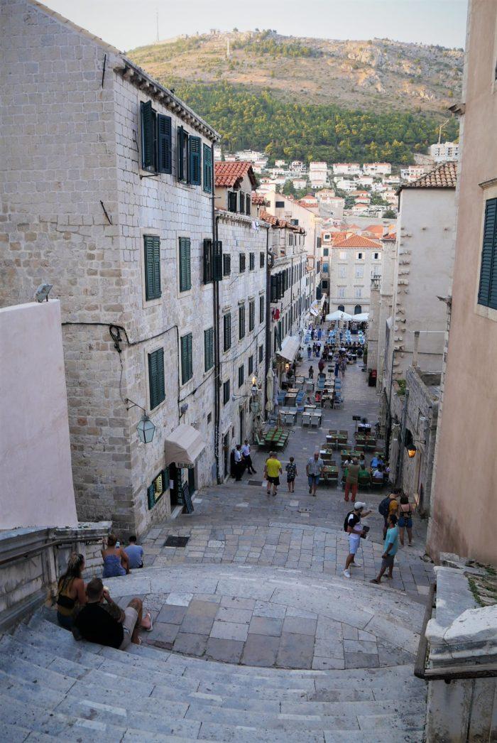 Escalera de la vergüenza en Dubrovnik