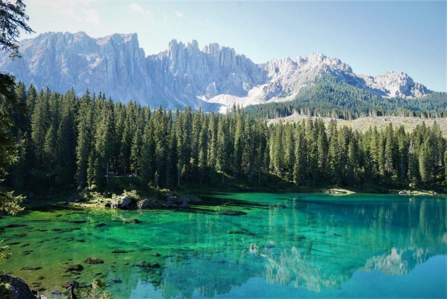 Lago di Carezza, Los Dolomitas