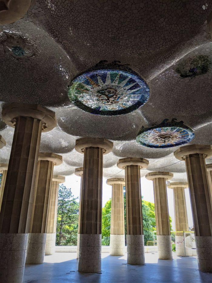 Sala de las Cien Columnas del Parque Güell