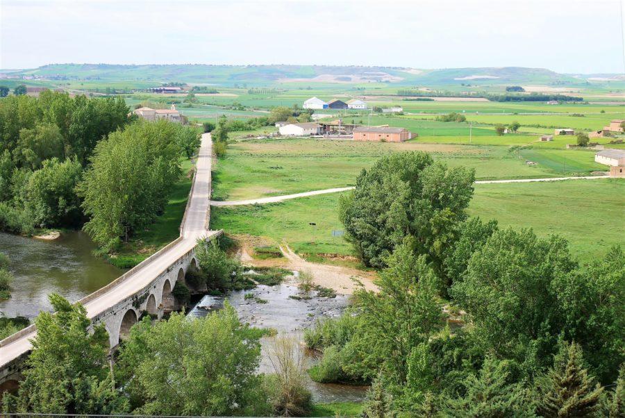 El río Arlanza, paisaje del Cerrato palentino