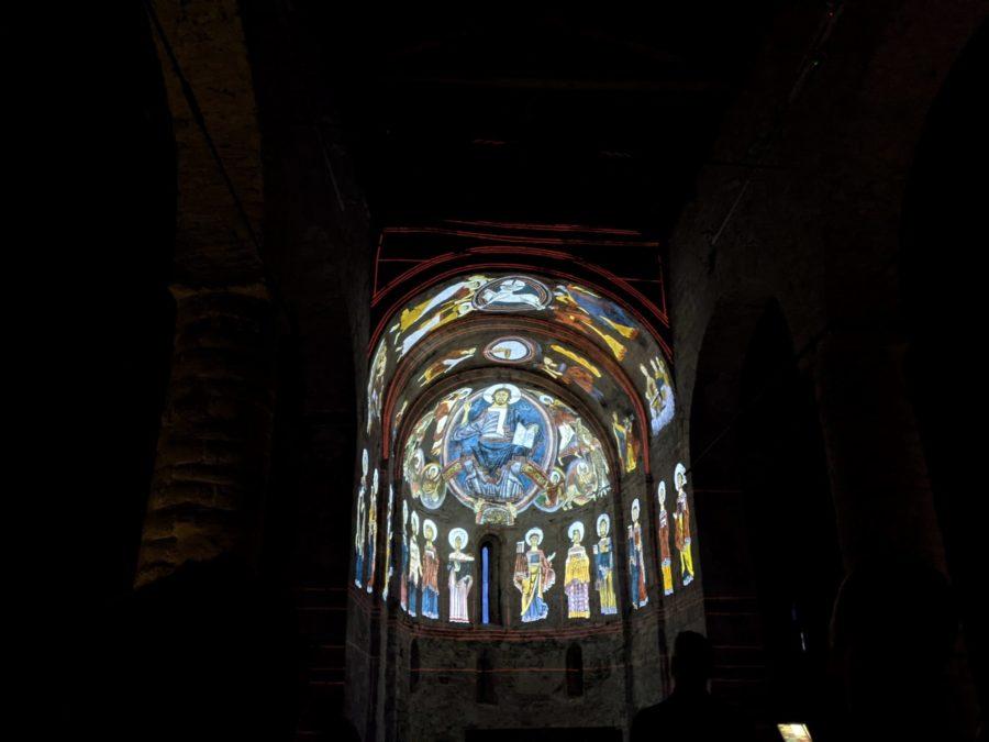 Proyección en Sant Climent de Taüll