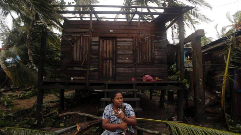 El paso del Huracán Eta en Nicaragua. Cortesía/BBCNews