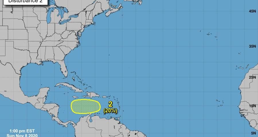 Fenómeno tropical en el Caribe