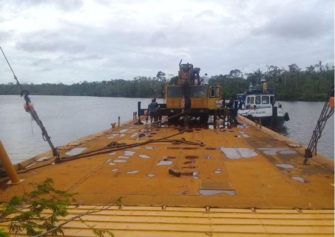 Nueva barcaza para acceso a Bilwi. Cortesía