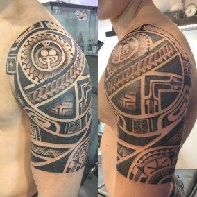 Tatouage polynesien fait par Kisio