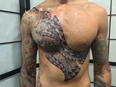 Tatouage Samoan fait par Brice