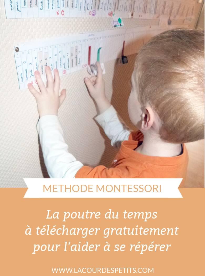 Ma Frise Du Temps Montessori : frise, temps, montessori, Poutre, Temps, Montessori, Imprimer, Petits