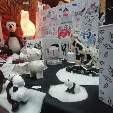 Vitrine Noir et Blanc Noël 2019