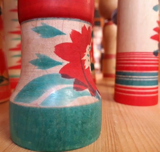 kokeshi, japon, vintage, bois, objets