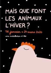 Mais que font les animaux l'hiver ? – Une installation d'Élo à la bibliothèque des Champs-Libres et, ce week-end, une fête avec les enfants !
