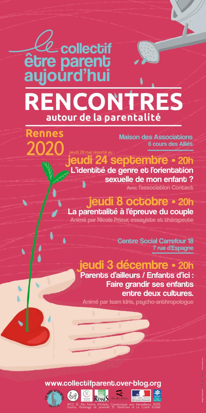 Collectif être parent aujourd'hui, programme 2020