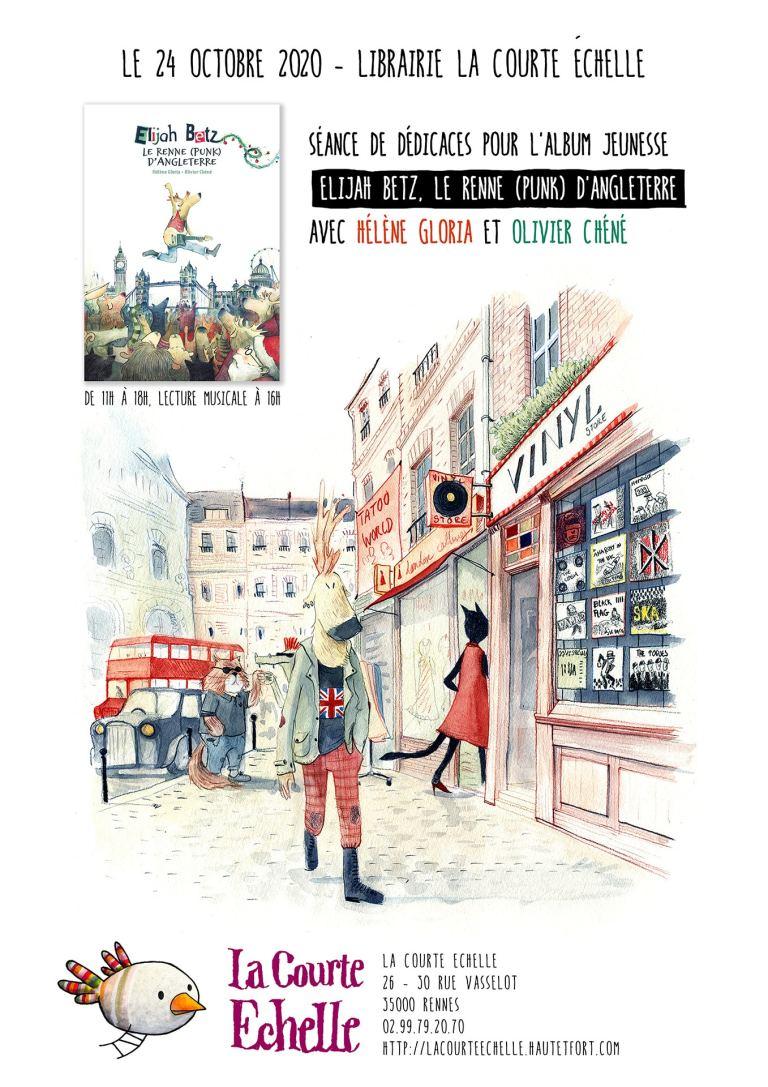 Rencontre - dédicace et lecture musicale avec Hélène Gloria, autrice et Olivier Chéné, illustrateur
