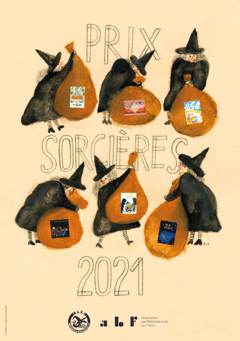 Affiche Prix Sorcières 2021, dessinée par Beatrice Alemagna