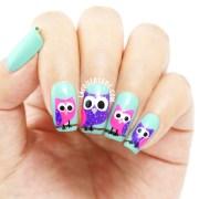 polish swatches & owl nail