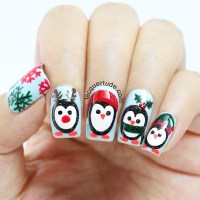 Holiday Penguins Nail Art & Tutorial Feat. piCture pOlish ...