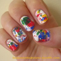 Paint splatter nails | Lacque to the Future: The Blog