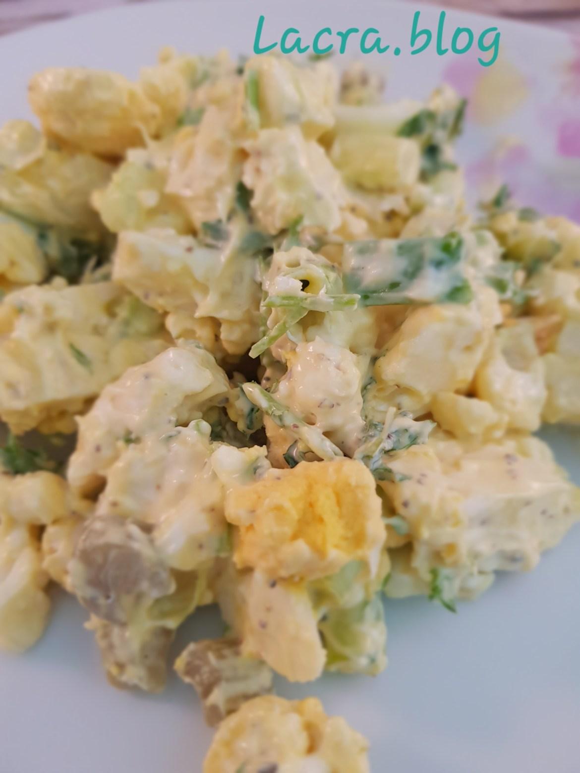 """Salată de """"cartofi""""-varianta keto"""