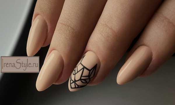 дизайн ногтей геометрия животные 1
