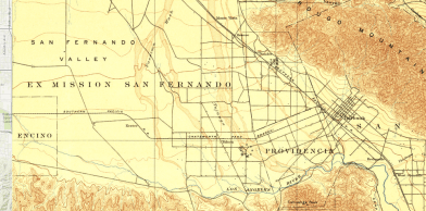Once, the river in the San Fernando Valley was not confined to a neat linear bed.... the whole valley was its bed...