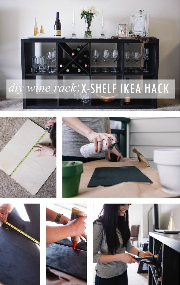 DIY Wine Rack An XShelf IKEA Hack