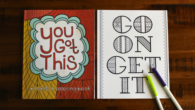 Un Libro De Colorear Para Adultos Lleno De Frases
