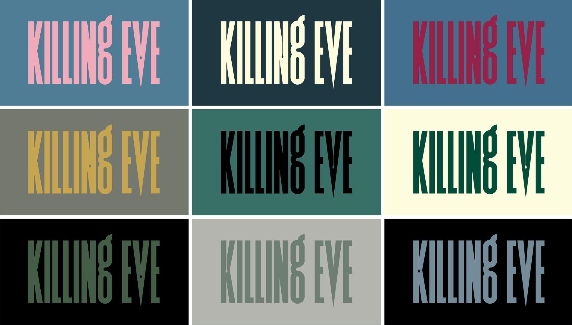 Familia tipografica en la serie Killing Eve