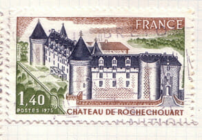 Rochechouart Chateau stamp from the 1970s.