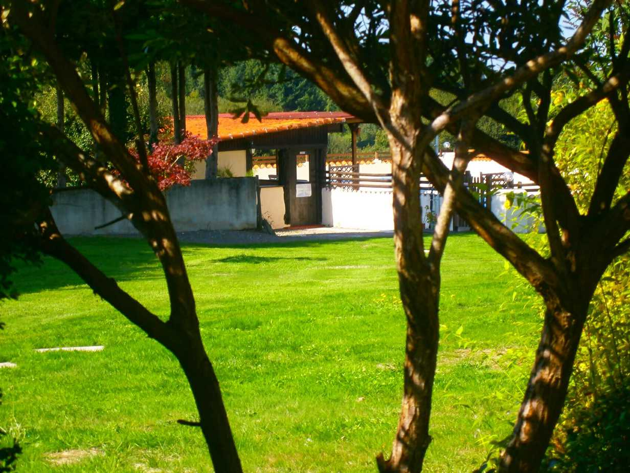View of pool area from Sartre's patio