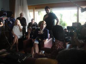 Alexandra Jiménez y Rossy de Palma en una pausa del rodaje