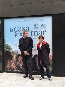 Robert y Ariane Ascaride presentando UNA CASA JUNTO AL MAR