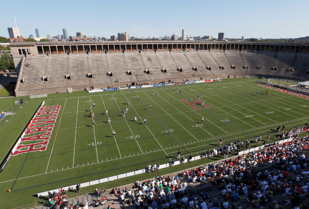 Aug 26, 2012; Allston, MA, USA; A general view of Harvard Stadium during the major league lacrosse championship game between the the Denver Outlaws and the Chesapeake Bayhawks. The Chesapeake Bayhawks won 16-6. Mandatory Credit: Greg M. Cooper-US PRESSWIRE