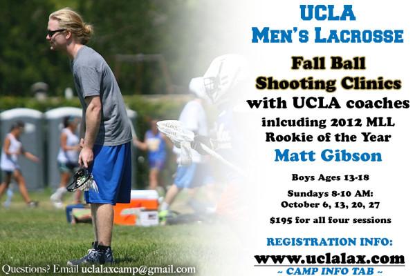UCLA to Host Fall Shooting Clinics with MLL Star Matt Gibson