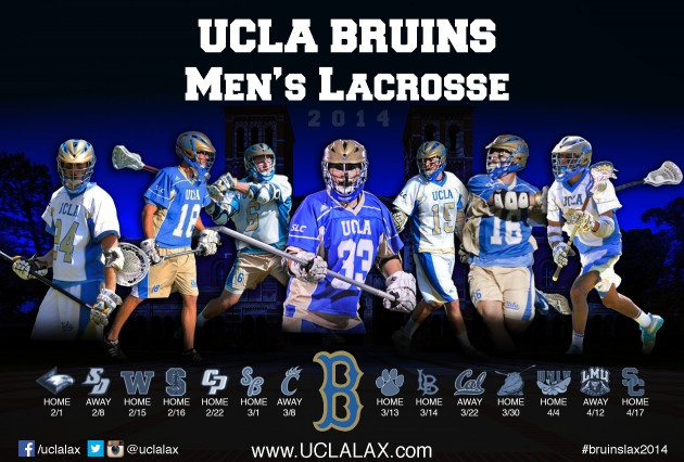 UCLA Lacrosse to Play Five Preseason Top 20 Teams in 2014