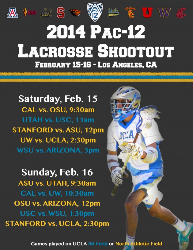 2014 Pac-12 Lacrosse Shootout Comes to Los Angeles This Weekend
