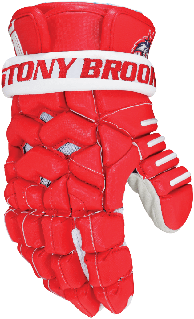 Stony Brook's Lacrosse Brine Triumph 2 Gloves in Blood Red