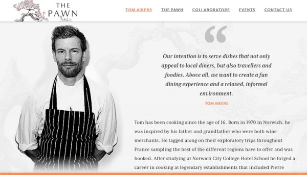 Photo courtesy of  The Pawn_Tom Aikens. Starred Restaurant in Ship Street