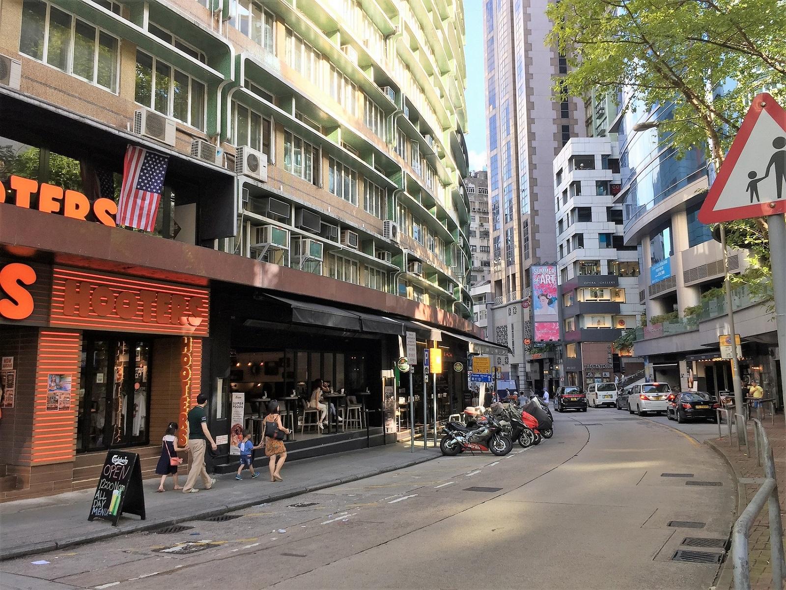 Wyndham Street Lan Kwai Fong Hong Kong bar lovers hang around spots