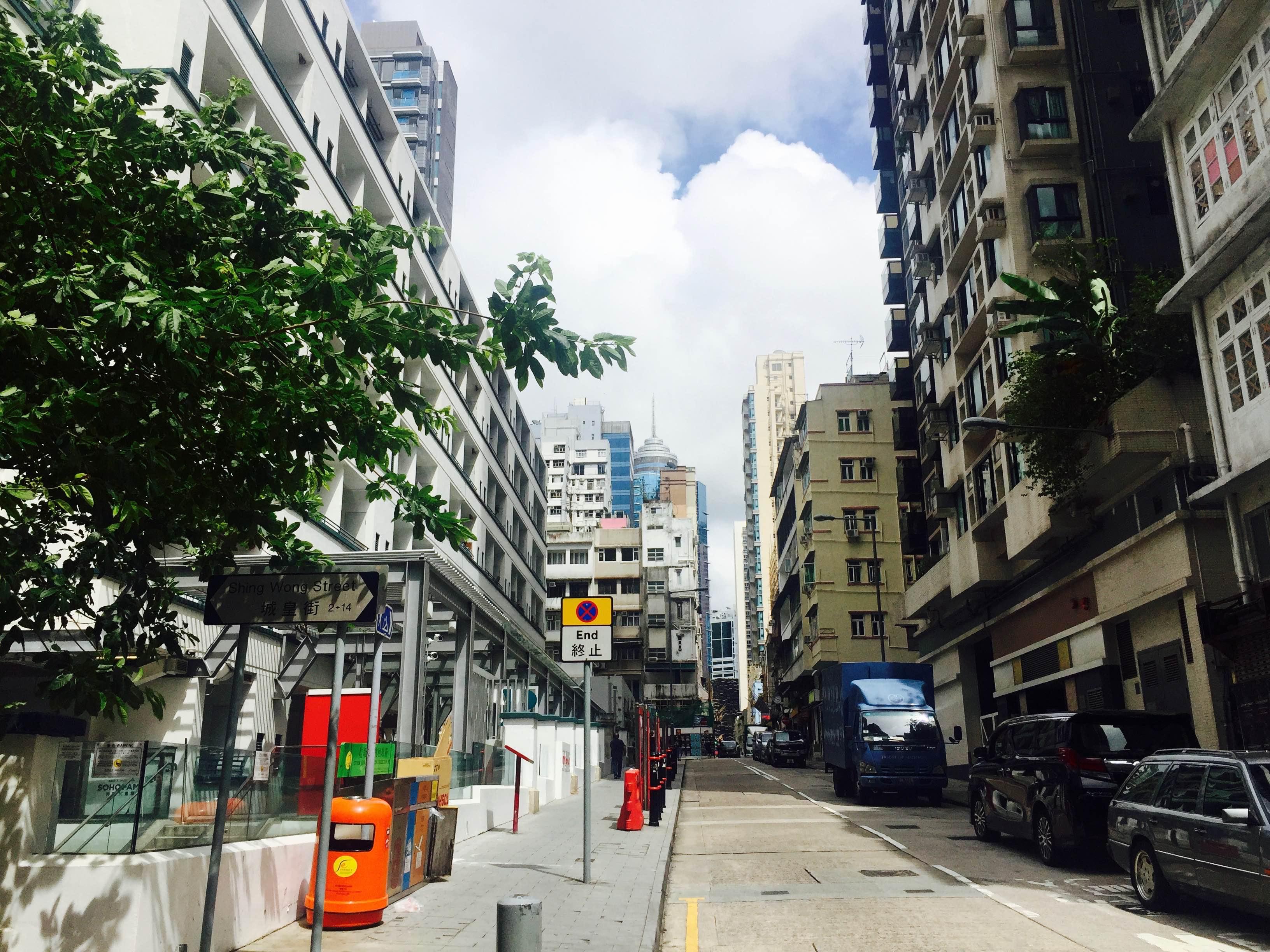 HK Bridges Street PMQ entrance HK few minutes walk to Soho Central