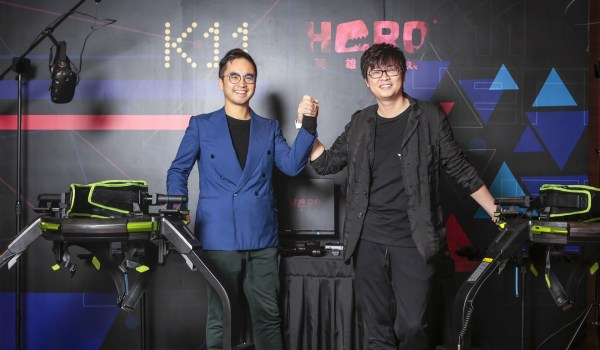 K11 Founder Adrian Cheng and Hero Entertainment chairman Dino Ying