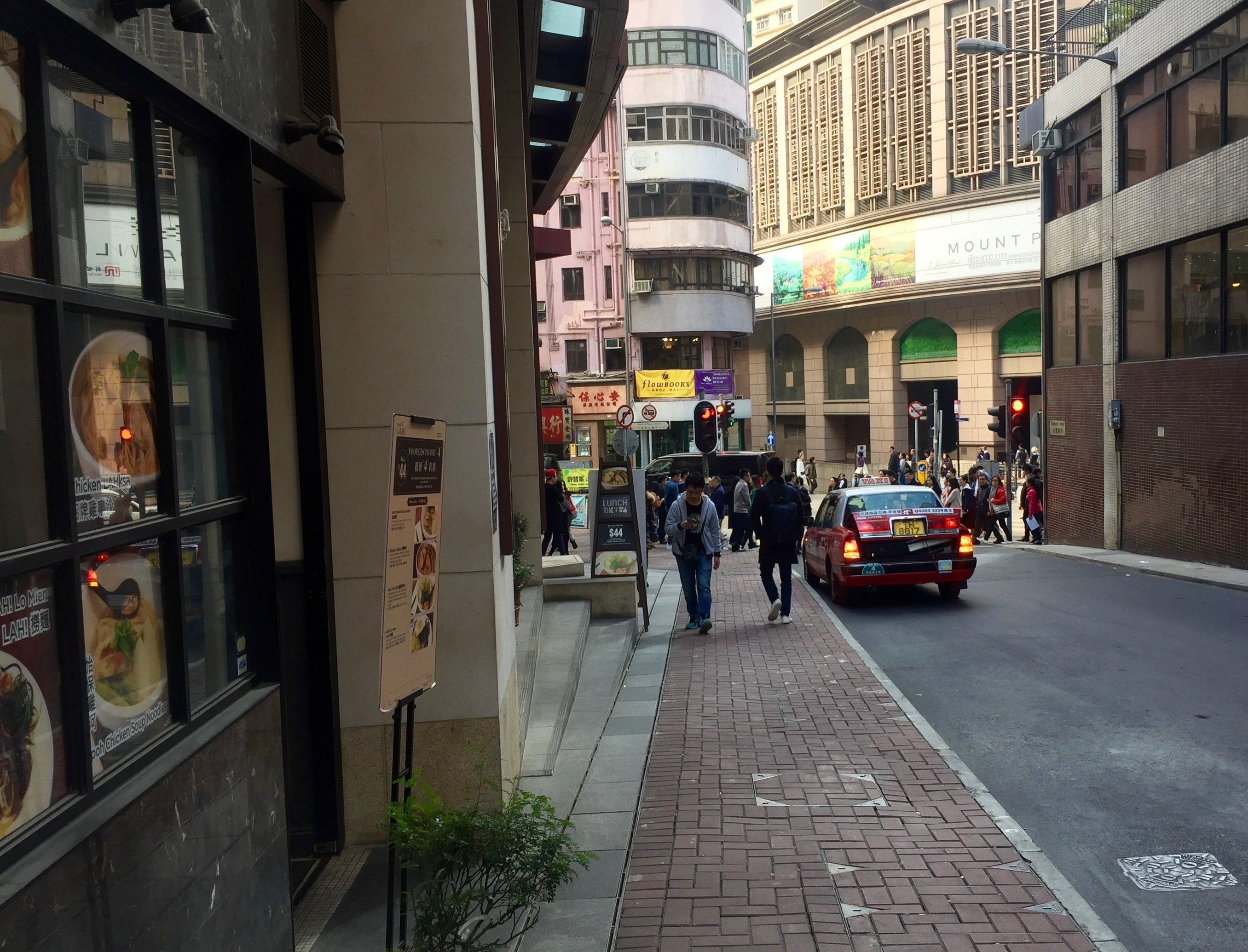 HK Central Wellington Street high-traffic location for restaurants bars