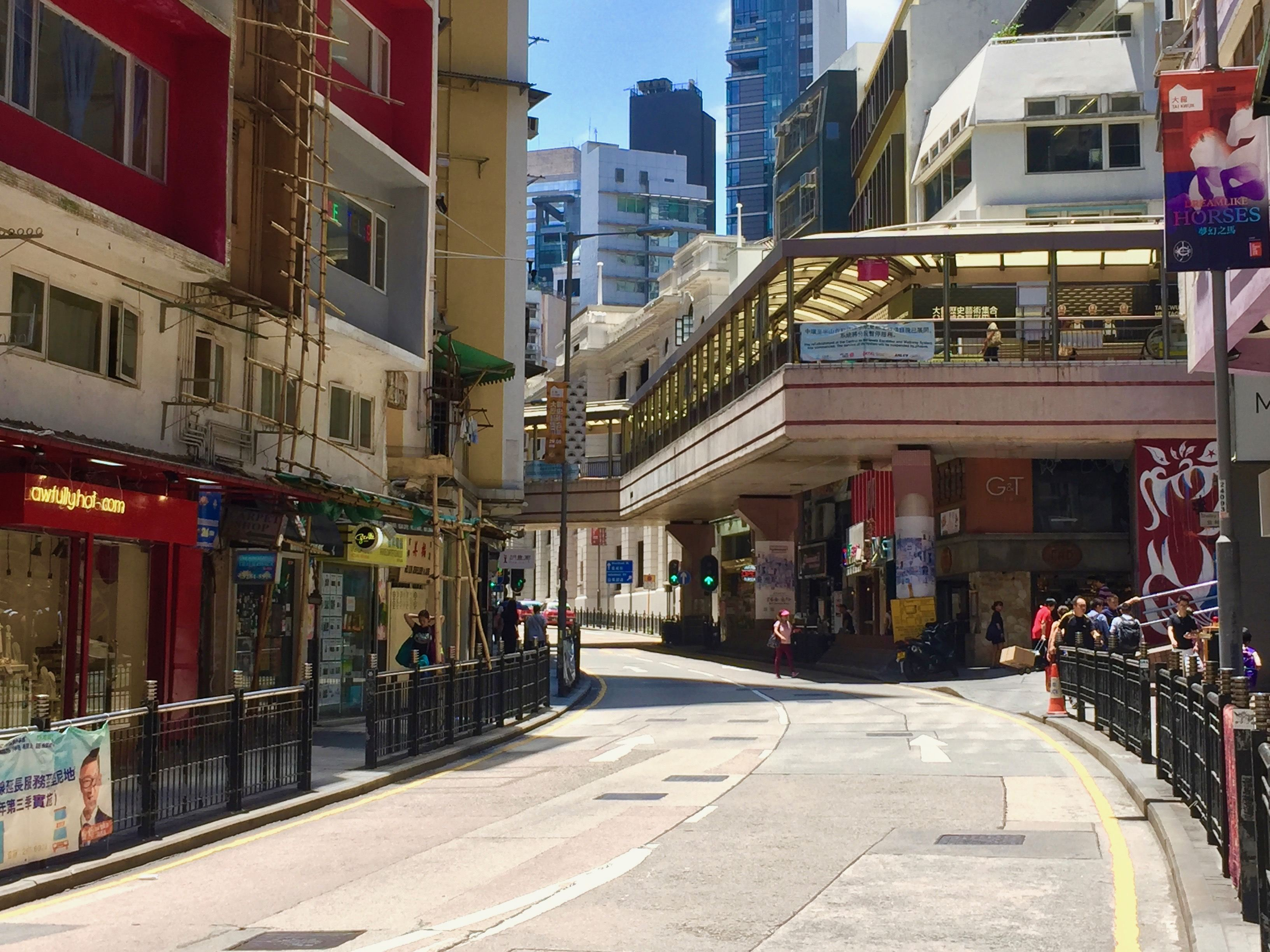 HK Central Shelley Street Wide Frontage FB Shop for lease