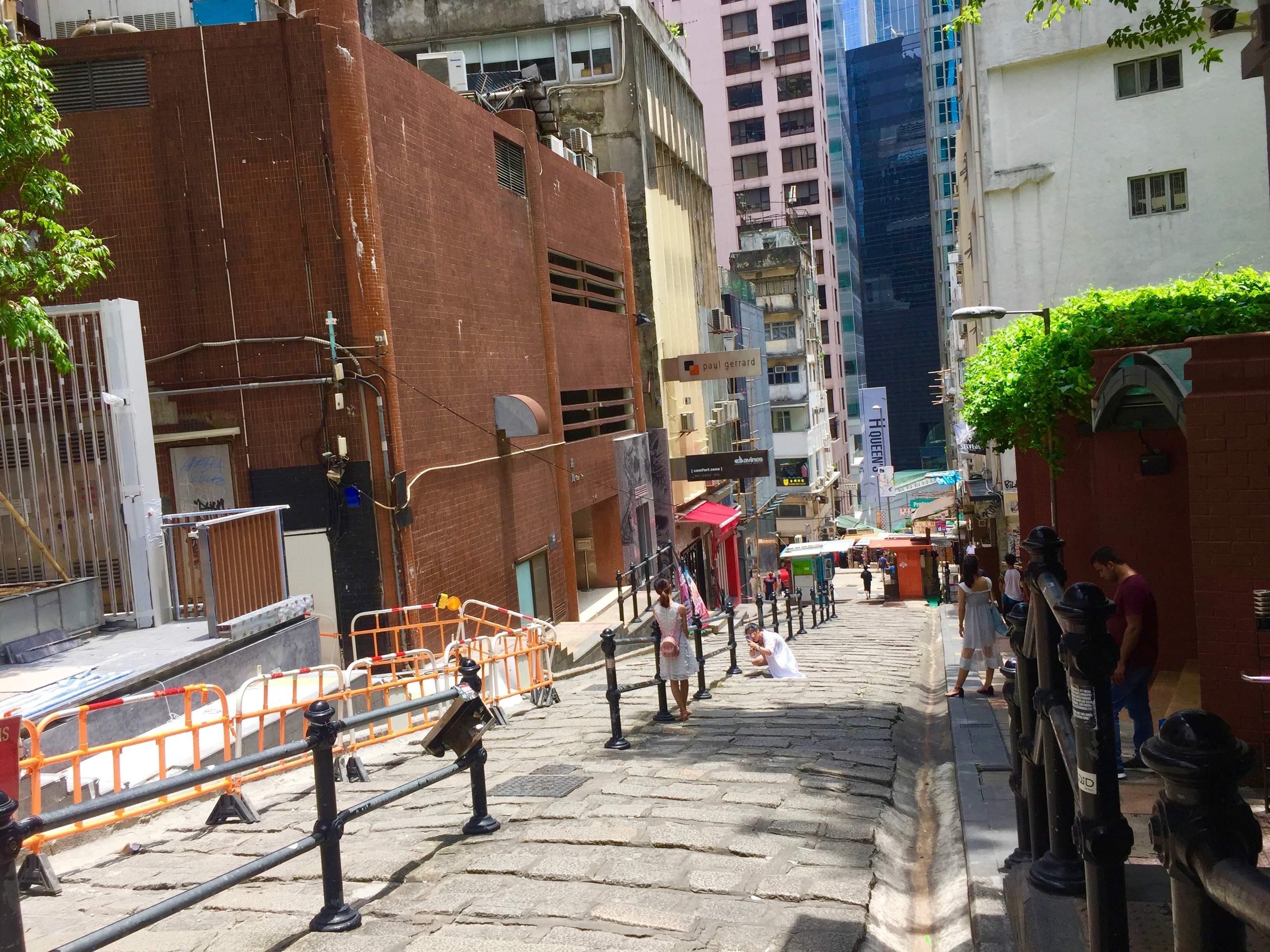 Pottinger Street - Ezra's Lane FB space for lease in Central HK