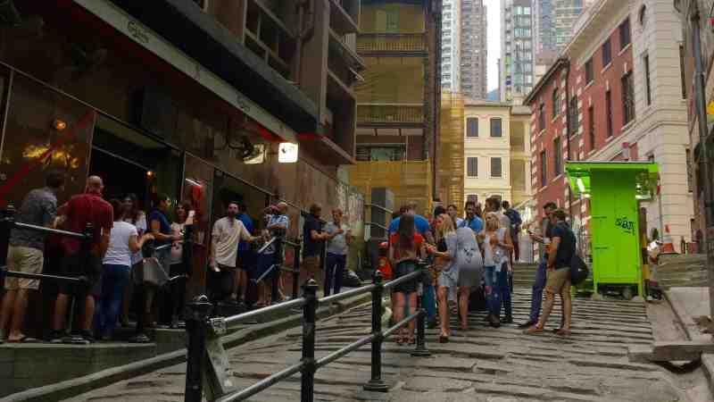 HK Central Upstairs Bar _ Restaurant Space for Rent on Pottinger Street
