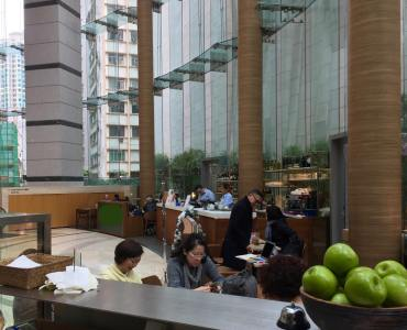 HK Causeway Bay office lobby cafe space for rent