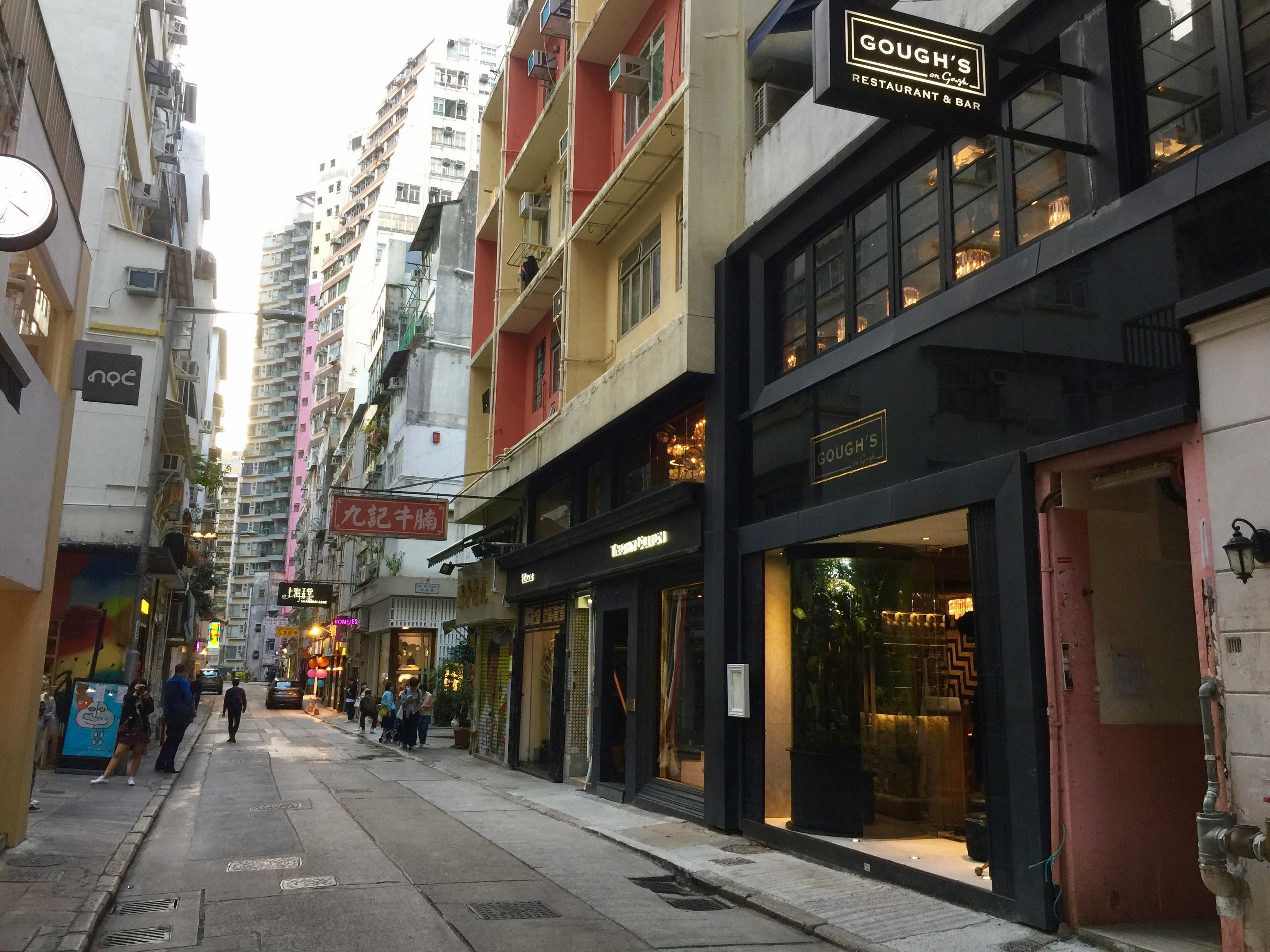 HK Central Noho Gough Street F&B Shop for Rent