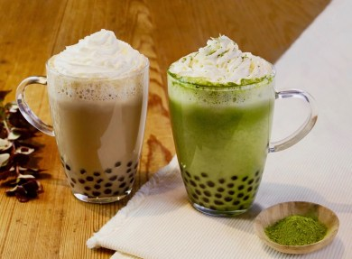 Chun Shui Tang in Japan serves a variety of bubble tea flavours