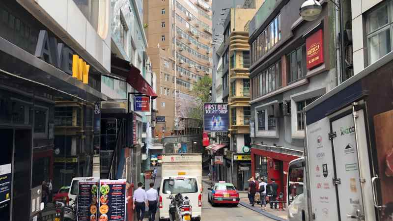 HK Central Upstairs Restaurant Space in LKF for Lease