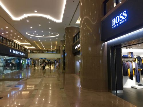 Shoppers has dropped in major shopping malls after weeks of protests in HK