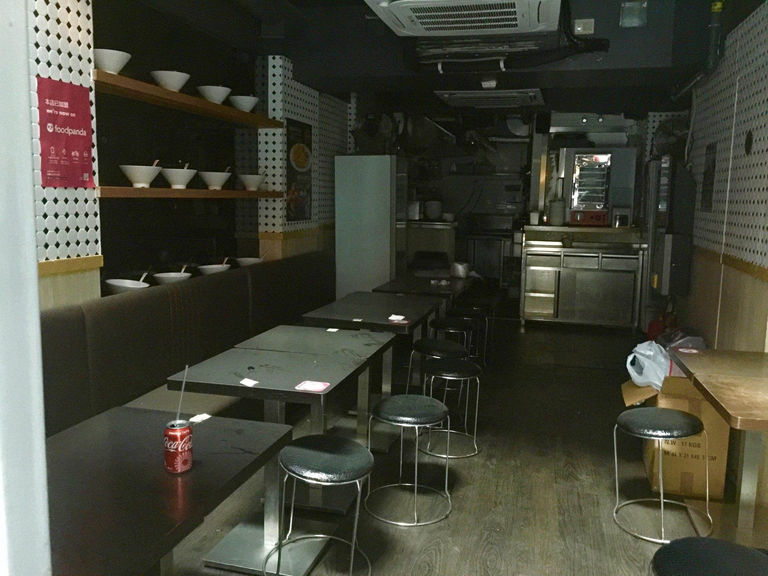 Fitted noodle shop for Lease in Central Hong Kong