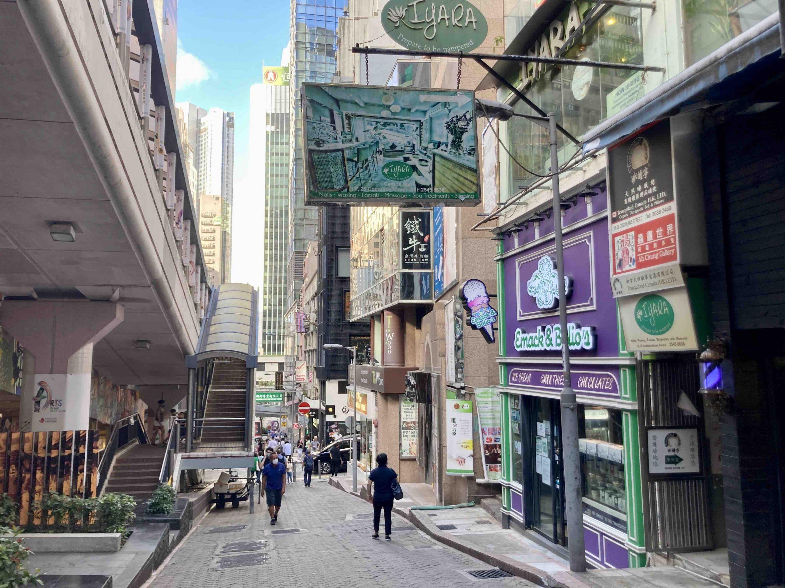 Adjoining Soho Escalator FB Shop for Lease in HK